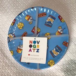 "8 pk - Anthropologie Novogratz 8"" Melamine Plates"